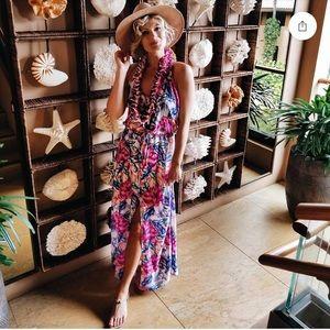 Ripcurl Floral Print Maxi Dress